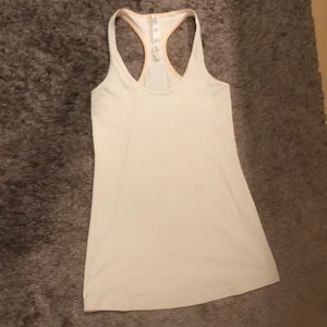 lululemon White Workout Top - Very Good Condition